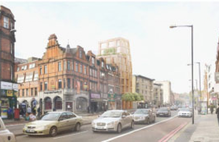 The proposed tower block on Finchley Road, by developer Linea Homes, will consist of 22 flats, just two of which are classed as 'affordable'.