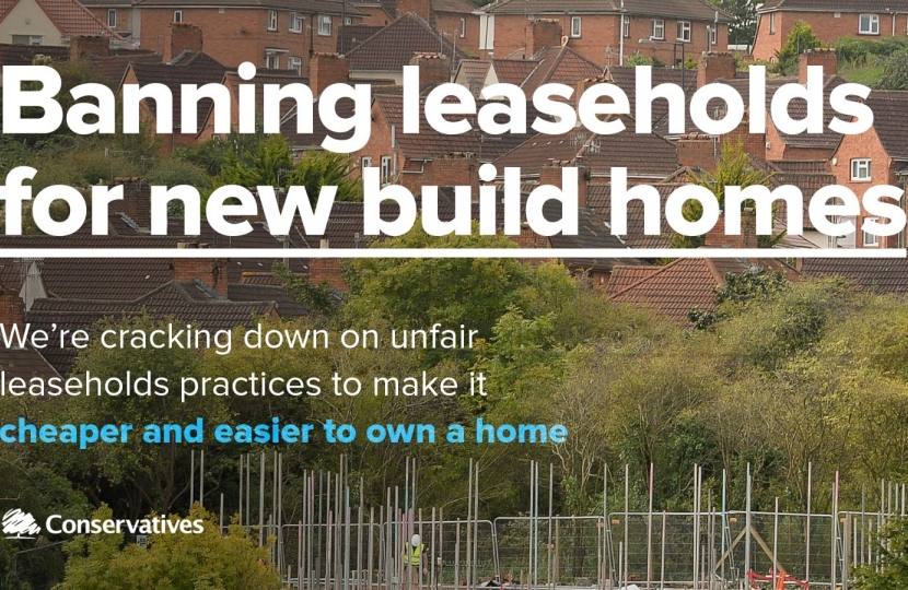 Conservatives plan ban on leaseholds for new build homes