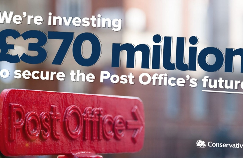 We're investing £370 million to secure the Post Office's future