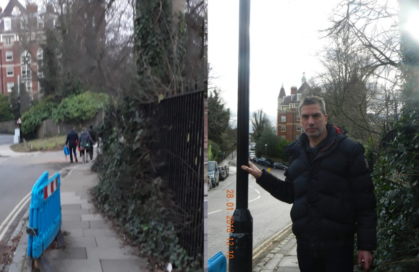 Cllr Stephen Stark & The Case of the Missing Lamp Post - Before and After