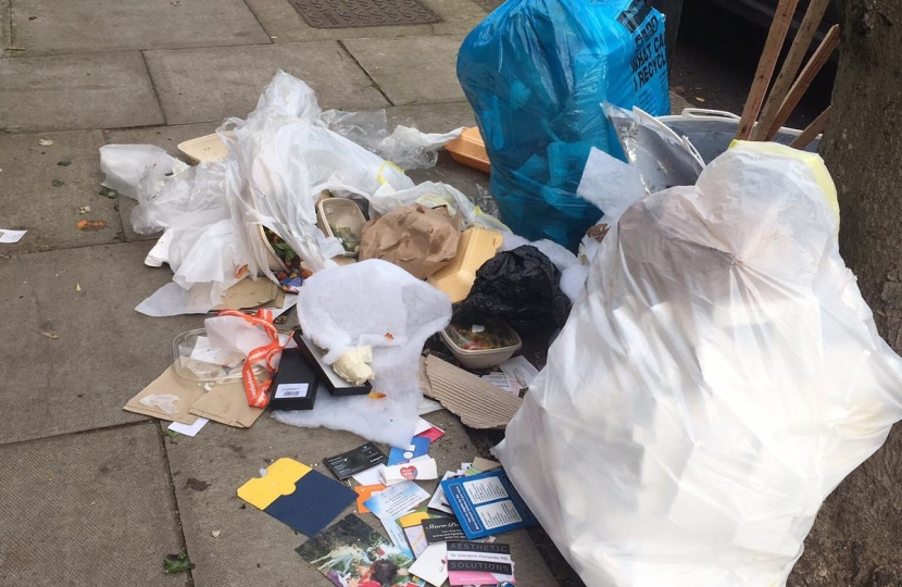 Refuse in West Hampstead