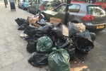 Rubbish piling up on West End Lane